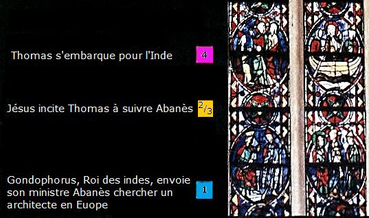 Tours St Thomas vitraux 1-4