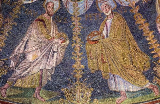 saint_Pierre_saint_Paul_mosaïque_Batistère_Vè_siècle