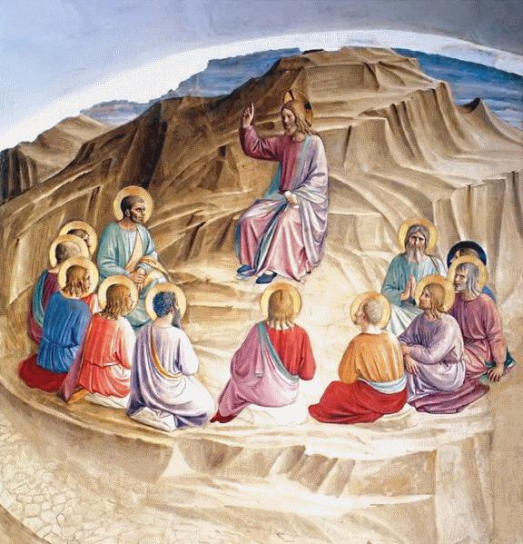 Jesus enseigne les apotres discours sur la montagne