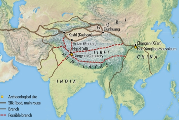 Silk Road Route de la soie Thibet