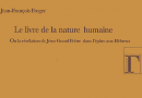 J-F Froger, <EM>Le livre de la nature humaine</EM>