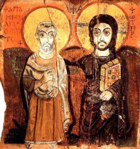 07 ANONYME CHRIST AND THE ABBOT MENA SINAI