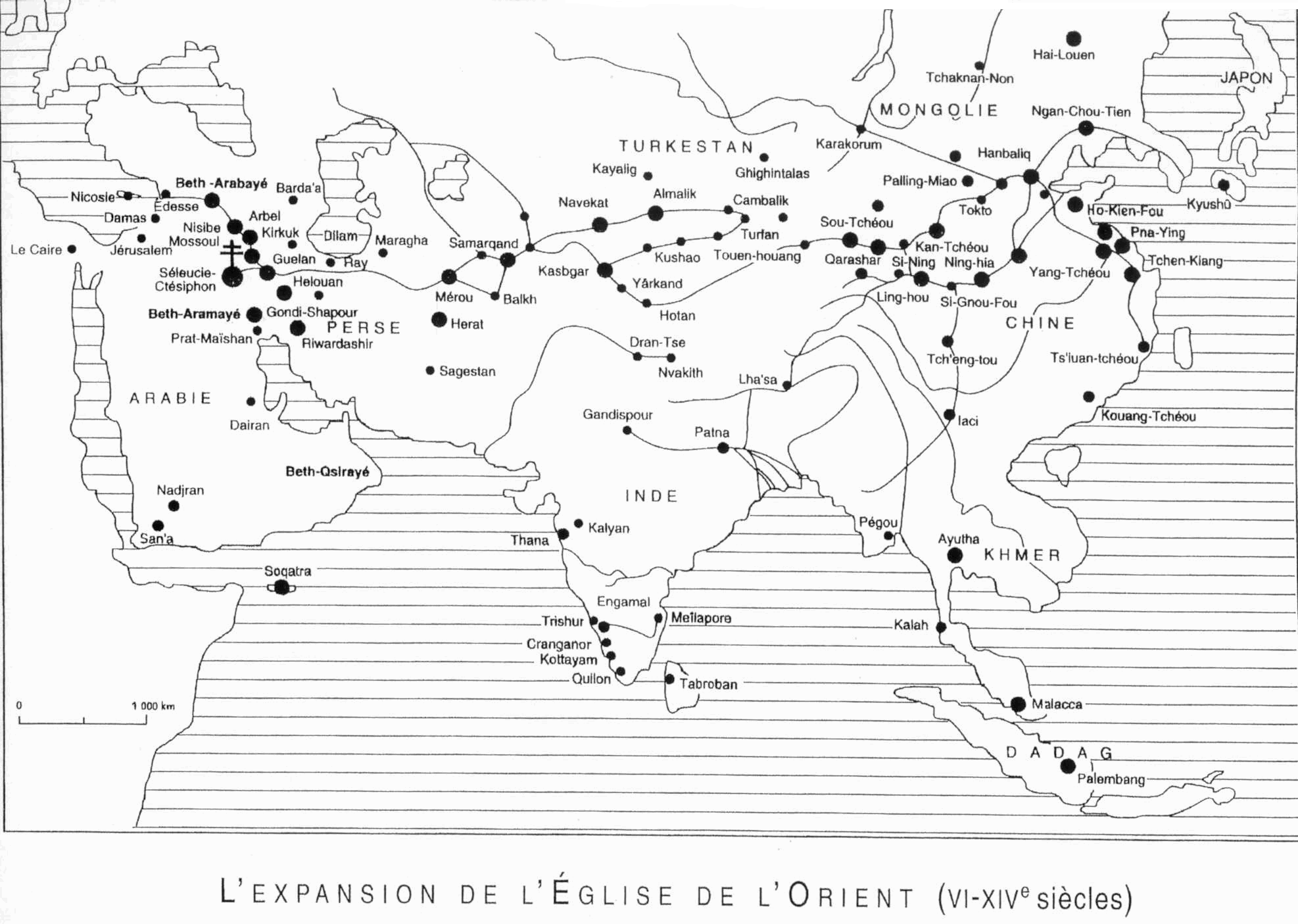 La Grande Eglise de l'Orient (principaux Evêchés)