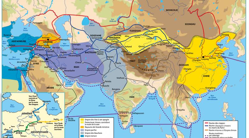 3 principales routes de la soie