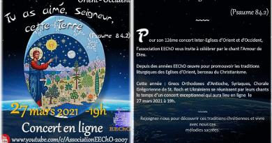 12<EM>e</EM> concert inter-Eglises Orient-Occident